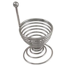 Coiled Metal Egg Cup 1950's