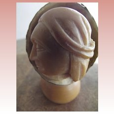 Carved Nut With An Indian Head