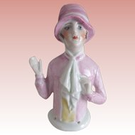 Flapper Pincushion Girl In Pink