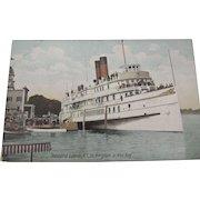 "Ship Postcard ""Sir Kingston"" At Thousand Islands N.Y."