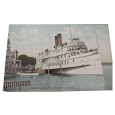 "Ship Postcard ""Sir Kingston"" At Thousand Islands N.Y."
