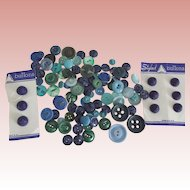 Vintage Green and Blue Buttons