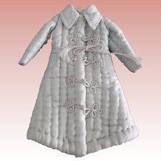 Pale Blue Silk Robe For A Fashion Doll