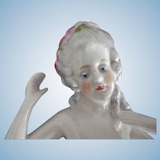 Large Pincushion Doll With Arms Away and Flowers in her Hair