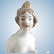 Pincushion Lady With Arms Away and Fancy Hairstyle