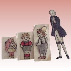 Four Early Embroidered Figures From Switzerland