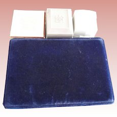 Four Vintage Boxes, Two For Rings, One For Pearls and Another