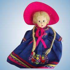 Lenci Doll All Original With  Cloth Tag 1940's