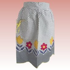 Half Apron with Polka Dots and Flowers