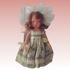 Nancy Ann Story Book Doll Bisque Little Miss Muffet Jointed Legs