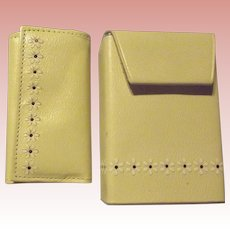 Cigarette Case, Lighter and Key-holder in Leather