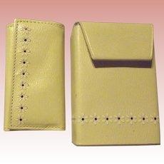 Cigarette Case, Lighter and Key-holder in Leather