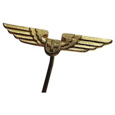 Vintage Swiss Air Stickpin With Wings
