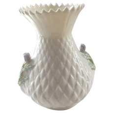 Belleek Thistle Vase - Red Tag Sale Item