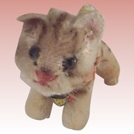 Steiff Tapsy The Cat, Original Ribbon , Bell and Paper Tag