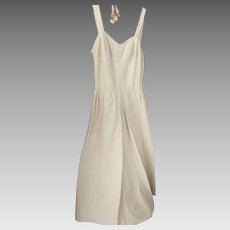 Faded Pale Yellow Denim  Sun Dress 1940's or 1950's.
