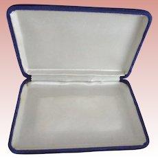 blue Velvet Jewelry Case