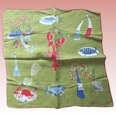 Pat Prichard Sea Creatures Handkerchief