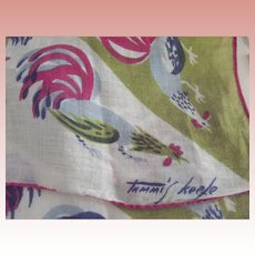 Tammis Keefe Handkerchief With Roosters