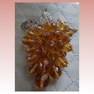 Old Crystal Dress Clip