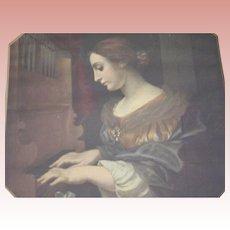 Saint Cecilia of the Piano Print