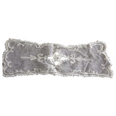 Small Doily With Netting Circa 1920