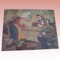 Pinocchio, Gepetto,Figaro and the Goldfish Print