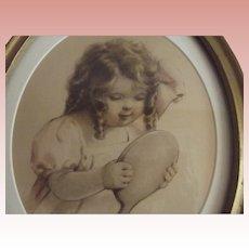 """Bessie Pease Gutmann Print """"Seeing"""""""