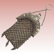 Victorian/Edwardian German Silver Finger Purse or Chatelaine