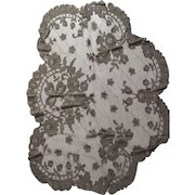 1920's or 30's Brown Lace Doily