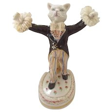 Irish Dresden Cat Figurine