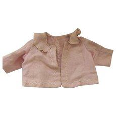 Pink Flannel Doll Jacket