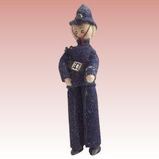 "British Bobby Doll With Metal Feet ""Willard"""