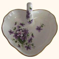 Porcelain Ring Dish Aynsley England Wild Violets