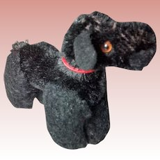 Black Poodle, Glass Eyes, Red Collar Jointed Limbs