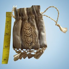 Doll's Drawstring Purse With Silk Tassels