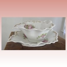 Victorian Mayonnaise Dish With Underliner