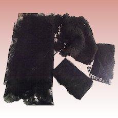 Victorian/Edwardian Black Lace