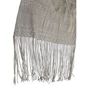 Silk Scarf With Fringe, Liberty Bell and Star of David