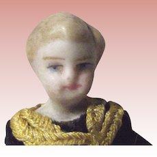 All Bisque Tiny Boy Doll Original Clothes