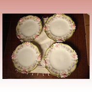 Four Small Victorian  Porcelain Plates