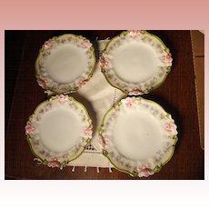 Four Small Victorian  Porcelain Plates