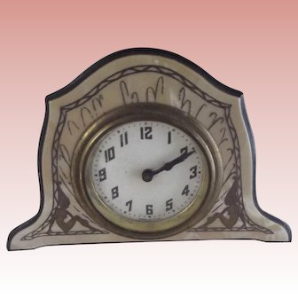 Art Deco Clock With Nymphs