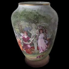 German  Royal BayreuthTapestry Vase With Trees, Women