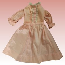 Peach Silk Blouse and Skirt as is