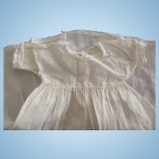 Simple Lace Trimmed Cotton Doll Dress