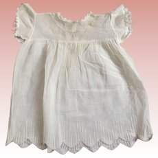 Lace Trimmed Dress For Pudgy Toddler Doll