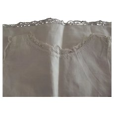 Lace Trimmed Cotton Full Slip Large