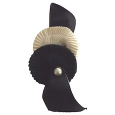 Hat Trim For 30's or 40's Hat Black and White