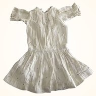 Lace Trimmed Doll Dress With Insertion Lace
